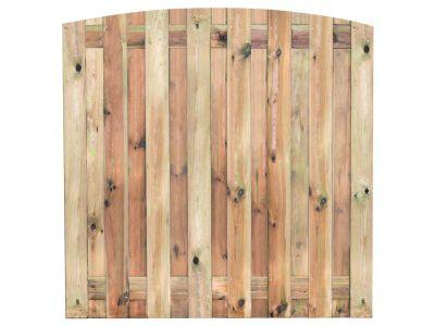 Kiefernholz Gartensichtschutz mit Bogen 15 Bretter