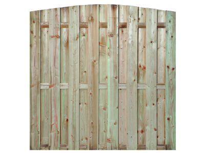 Kiefernholz-Gartensichtschutz Bogen 15 Bretter 180 cm
