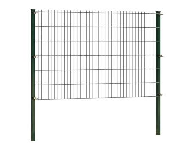 Doppelstabmattenzaun 123 cm höhe | grün | Länge 2 meter