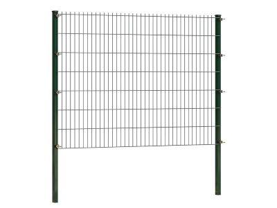 Doppelstabmattenzaun 143 cm höhe | grün | Länge 2 meter