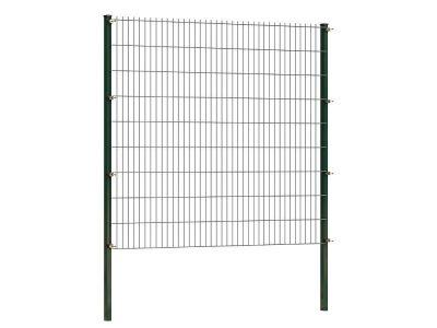 Doppelstabmattenzaun 203 cm höhe | grün | Länge 2 meter
