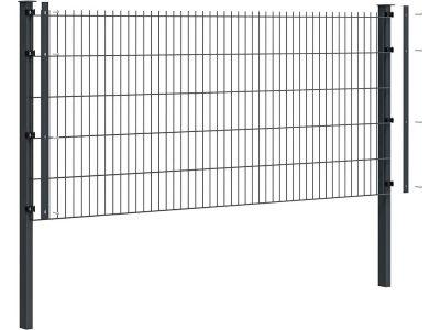 Komplettpaket Doppelstabmattenzaun Deluxe Ø 8/6/8 | 2.5 Meter breit