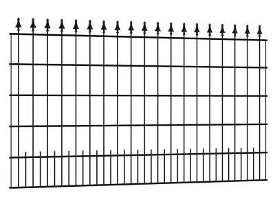 Schmuckzaun Sagitta 2 Meter breit Schwarz
