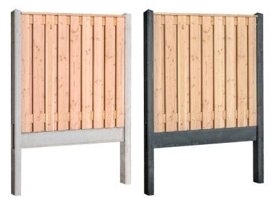 Douglas-Holz Beton Zaunpaket